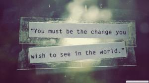 Typography Change The World Mahatma Gandhi Quotes 1920×1080 Wallpaper