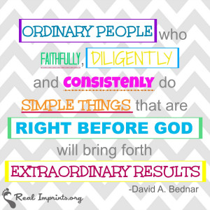 right before god will bring forth extraordinary results david a bednar