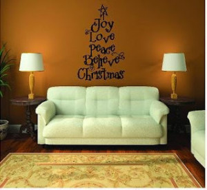 Christmas Quote Wall Decal
