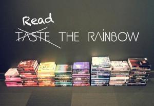 Reading rainbow.