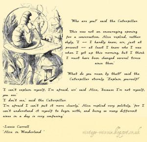 Alice In Wonderland Caterpillar Quotes