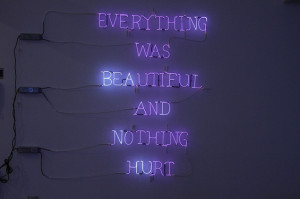 Poetic and haunting neon installations by Meryl Pataky . The slight ...