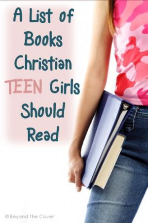 Must Read Booklist for Christian Teen Girls | www.thecharlottemasonway ...