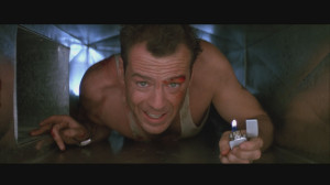 The most memorable scene in which the Zippo is used is when McClane is ...