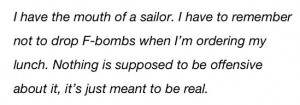 Love this Kristen Bell quote. I was once told that women shouldn't ...