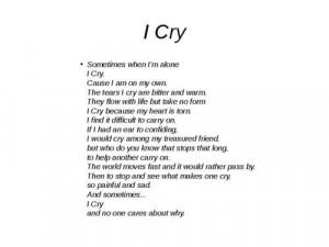 cry,Tupac poem