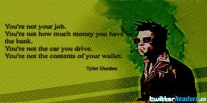 Tyler Durden Quote Fight Club Twitter Header