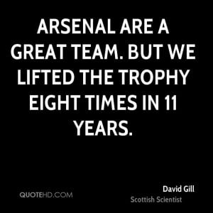 Arsenal are a great team. But we lifted the trophy eight times in 11 ...