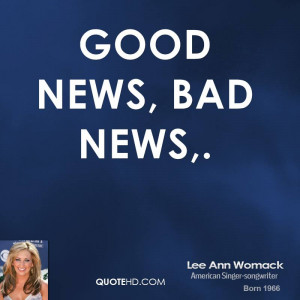 Good News, Bad News,.