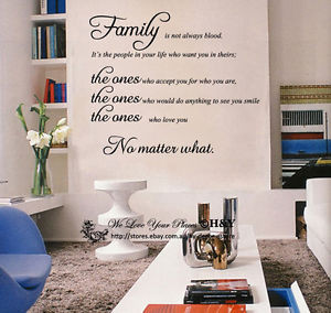 ... -Home-Decor-Wall-Stickers-Decals-Family-is-Not-Always-Blood-Quote-US