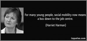 For many young people, social mobility now means a bus down to the job ...