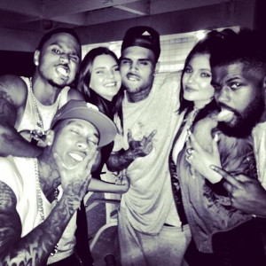 Kendall And Kylie Jenner Party With Trey Songz And Chris Brown [PHOTOS ...