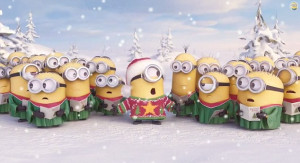 Deck the halls: The Minions give a special Christmas message in video