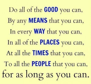 Do all good