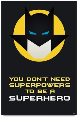 Bluegape Batman Superhero Quote Poster - Motivational posters in India ...