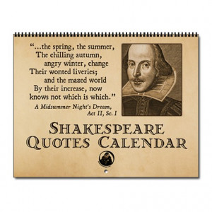 Acting Gifts > Acting Calendars > Shakespeare Quotes Wall Calendar