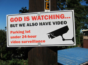 God is watching