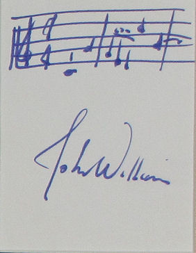 John Williams Autograph Musical Quote - Star Wars