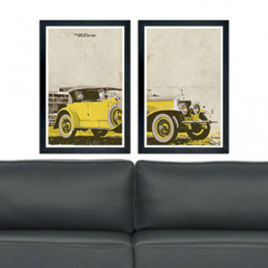 the Great Gatsby yellow car poster set 11