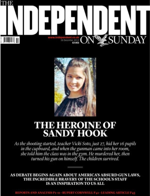 ... Front Page Honoring Victoria Soto 'The Heroine Of Sandy Hook