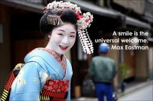 Smiling geisha quote