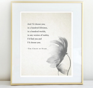 Love Quote - The Chaos of Stars - Poetry Print - Typographic Print
