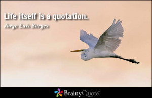 Life itself is a quotation.