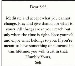 Humble yourself