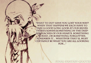 tags: #Bugenhagen #Final Fantasy VII #Final Fantasy 7 #FFVII #quote