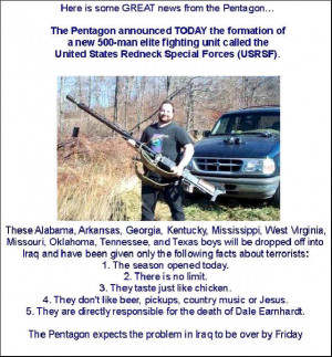 hillbilly sayings and quotes | REDNECK SPECIAL FORCES