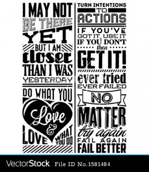 Set of retro vintage motivational quotes vector