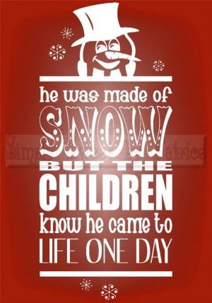 Frosty Snowman Quotes