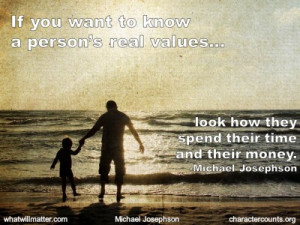 image for QUOTE & POSTER: If you want to know a person's real values ...