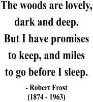 Before I Sleep Robert Frost Miles to Go