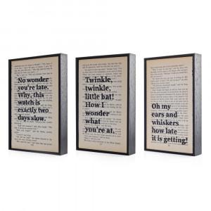 Alice in Wonderland Quotes Altered Book Art Typographic print on ...