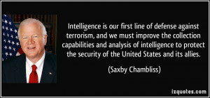 More Saxby Chambliss Quotes