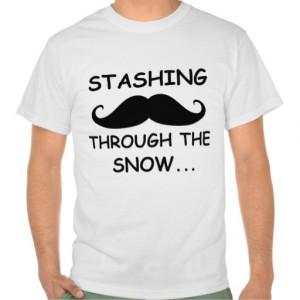 Funny Stashing through the snow Holiday Shirt