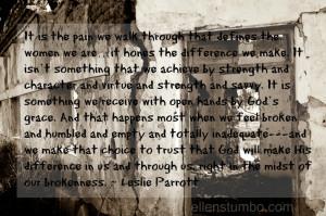 Leslie Parrott quote