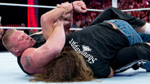 Brock Lesnar attacks Shawn Michaels