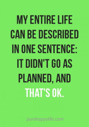 One Sentence Quotes
