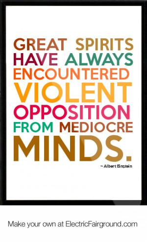 Albert Einstein Framed Quote
