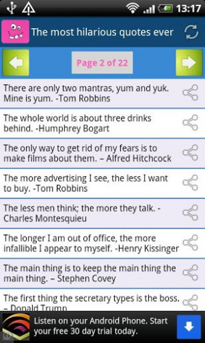 View bigger - The most hilarious quotes ever for Android screenshot