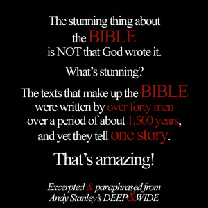 If you are reading this please stop quoting the Bible