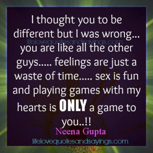 Playing Games Quotes and Sayings