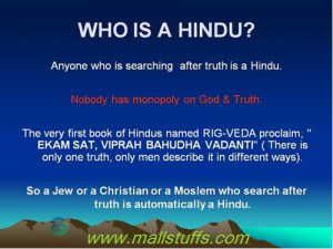 Why hinduism is not a religion but a culture