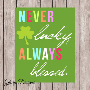 St. Patrick's day Quote, Inspirational quote, school, classroom decor ...