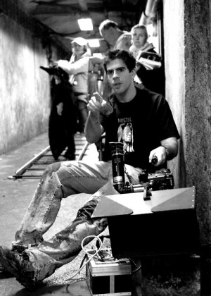 Eli Roth on the set of Hostel (2005)
