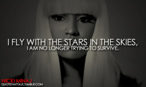 nicki minaj quotes and sayings fly with the stars
