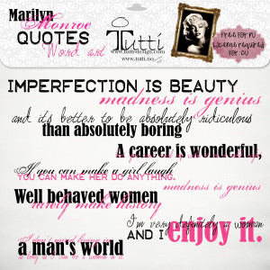 Marilyn Monroe quotes word art