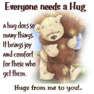 everybody needs a hug